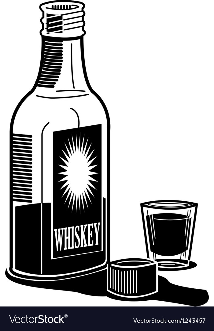 Whiskey and shot glass vector | Price: 1 Credit (USD $1)