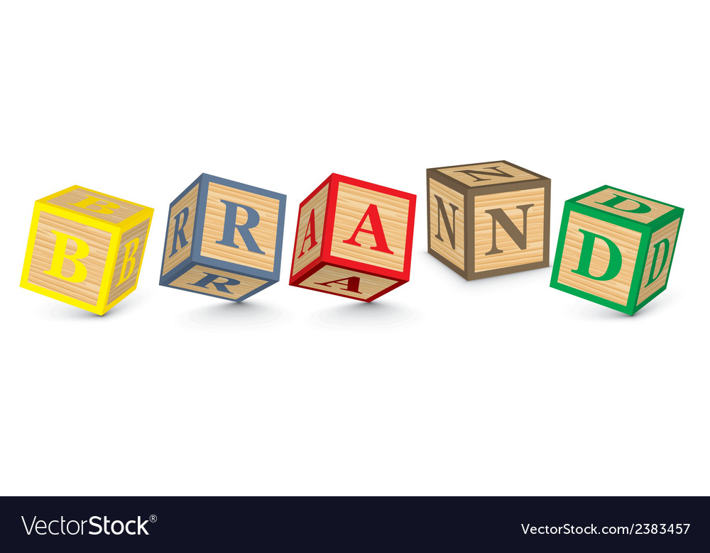 Word brand written with alphabet blocks vector | Price: 1 Credit (USD $1)