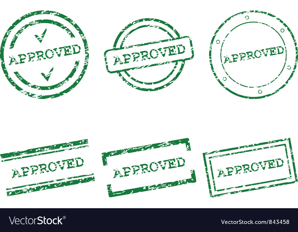 Approved stamp vector | Price: 1 Credit (USD $1)