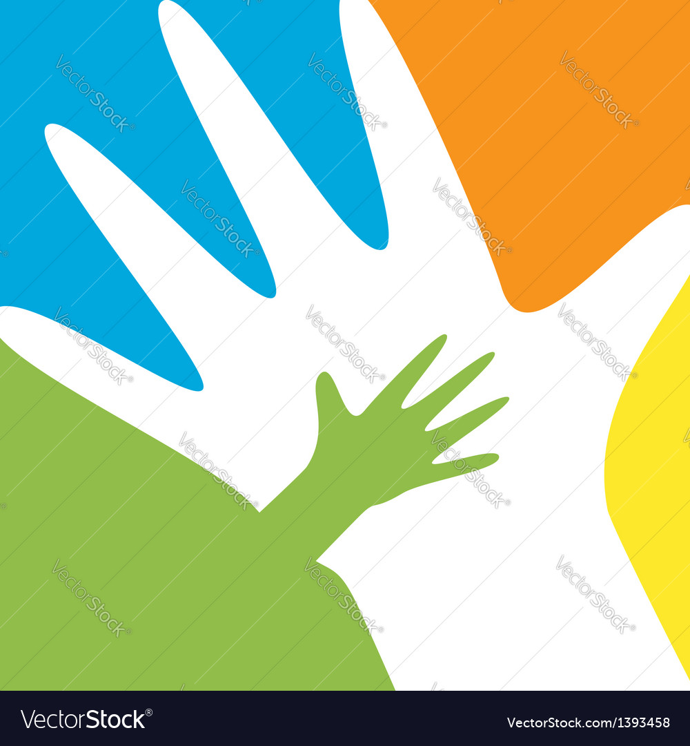 Child and parent hands vector | Price: 1 Credit (USD $1)