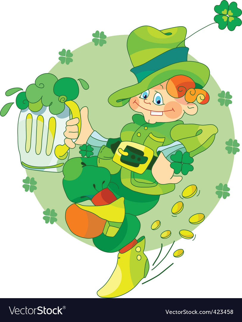 Dancing leprechaun vector | Price: 1 Credit (USD $1)