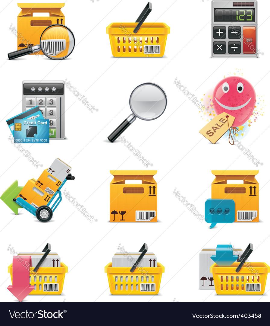 ecommerce icon set vector | Price: 3 Credit (USD $3)