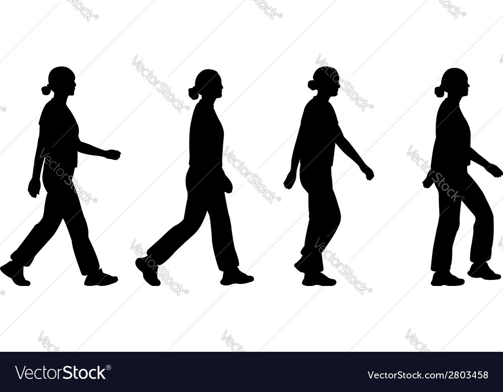 Girl walking vector | Price: 1 Credit (USD $1)