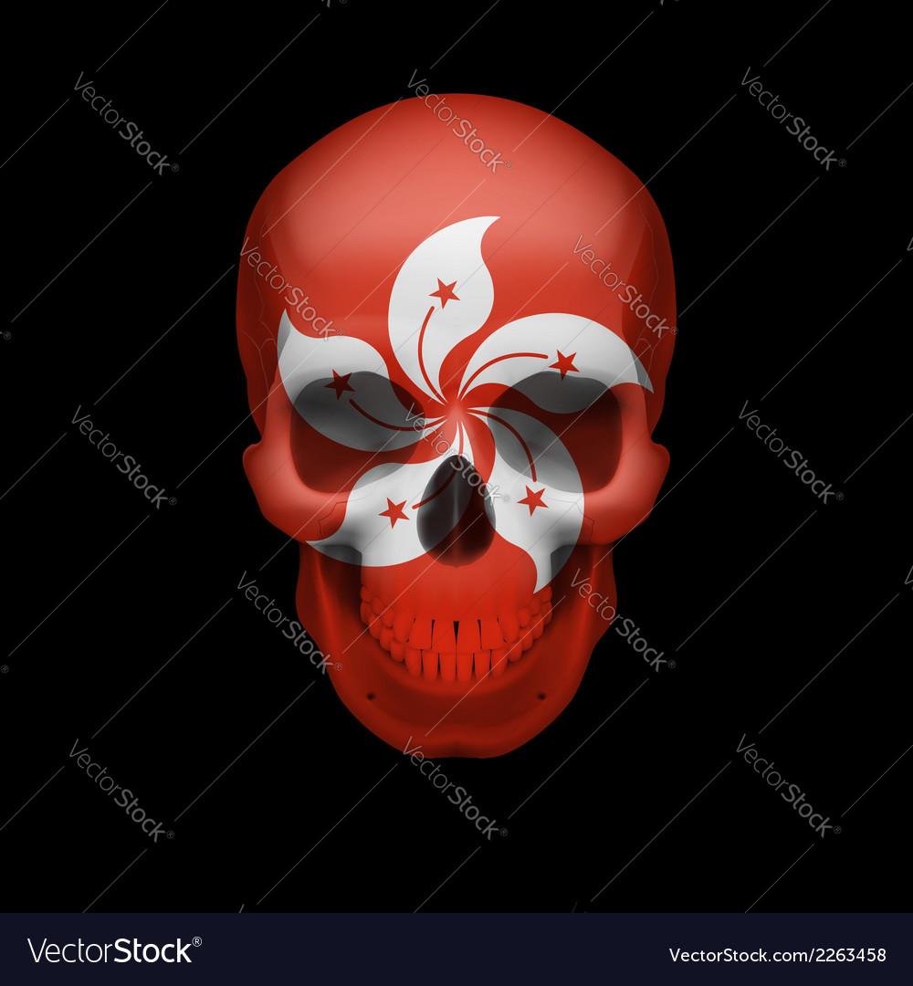 Hong kong flag skull vector | Price: 1 Credit (USD $1)