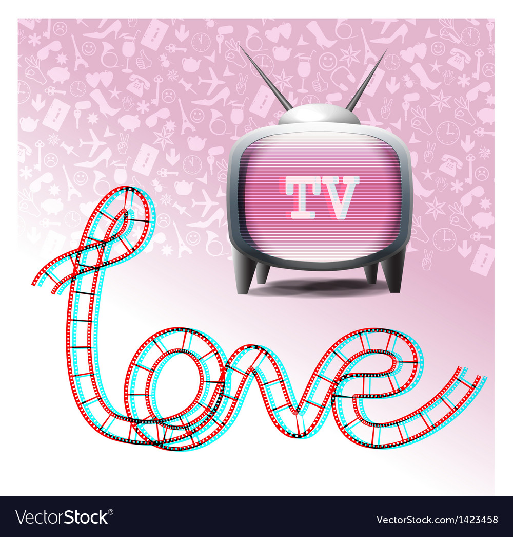 Love tv set vector | Price:  Credit (USD $)