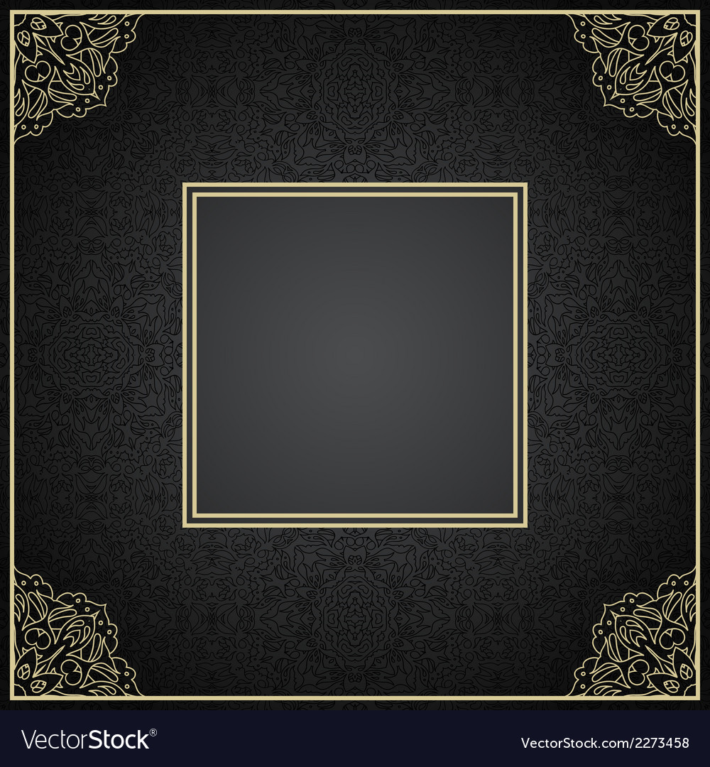 Luxury vintage invitation frame with ornament vector | Price: 1 Credit (USD $1)