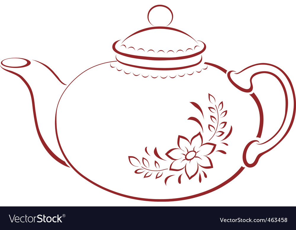 Teapot pictogram vector | Price: 1 Credit (USD $1)
