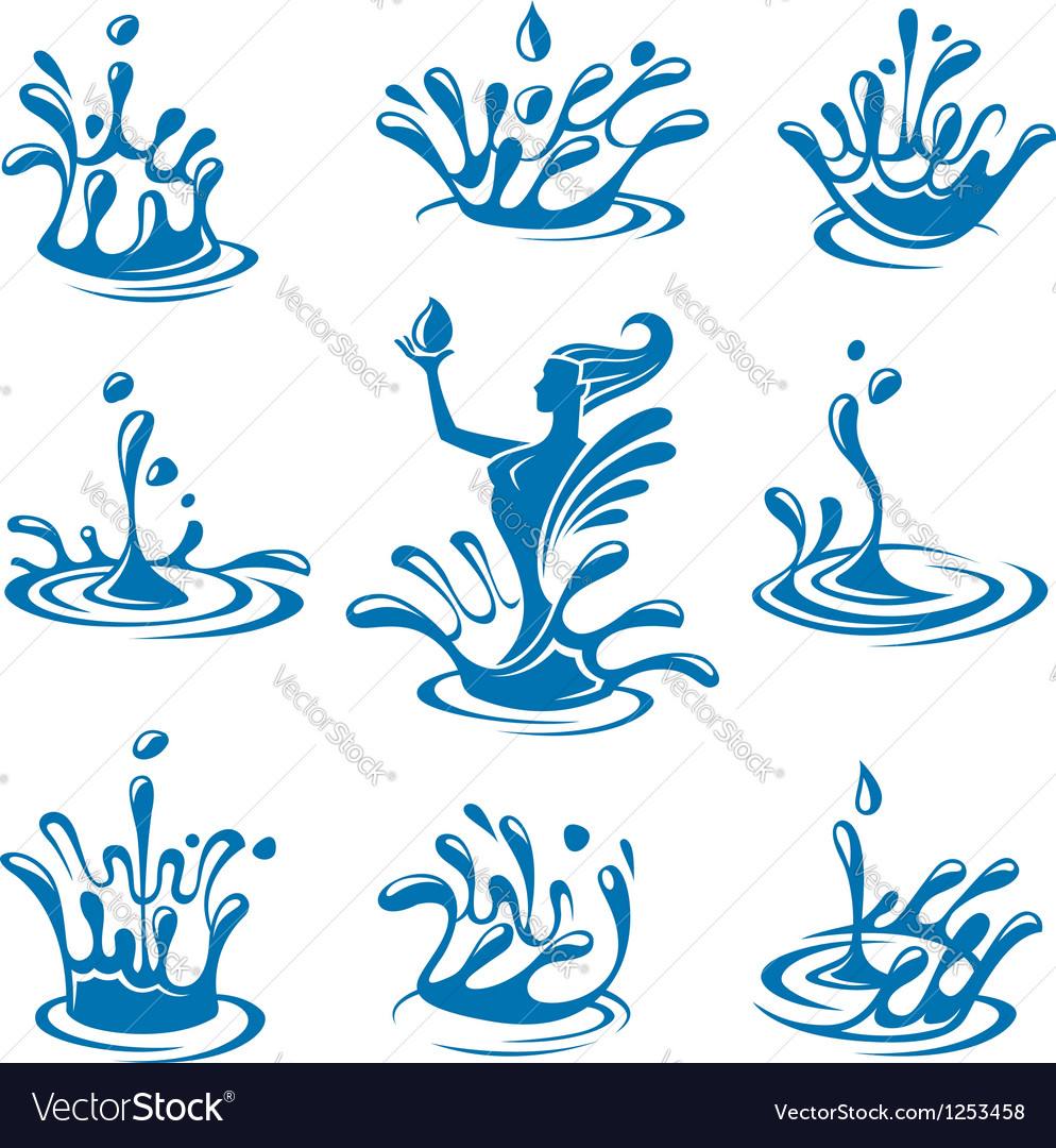 Water icons vector | Price: 1 Credit (USD $1)