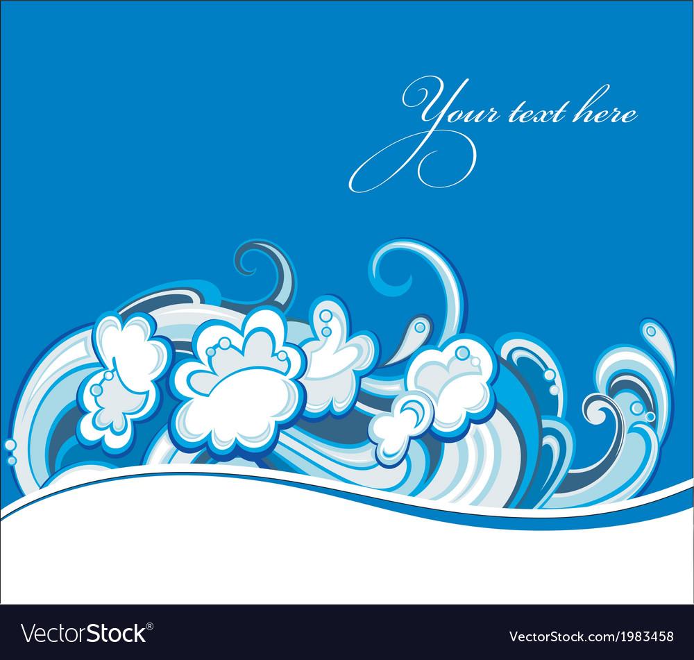 Water wave vector | Price: 1 Credit (USD $1)