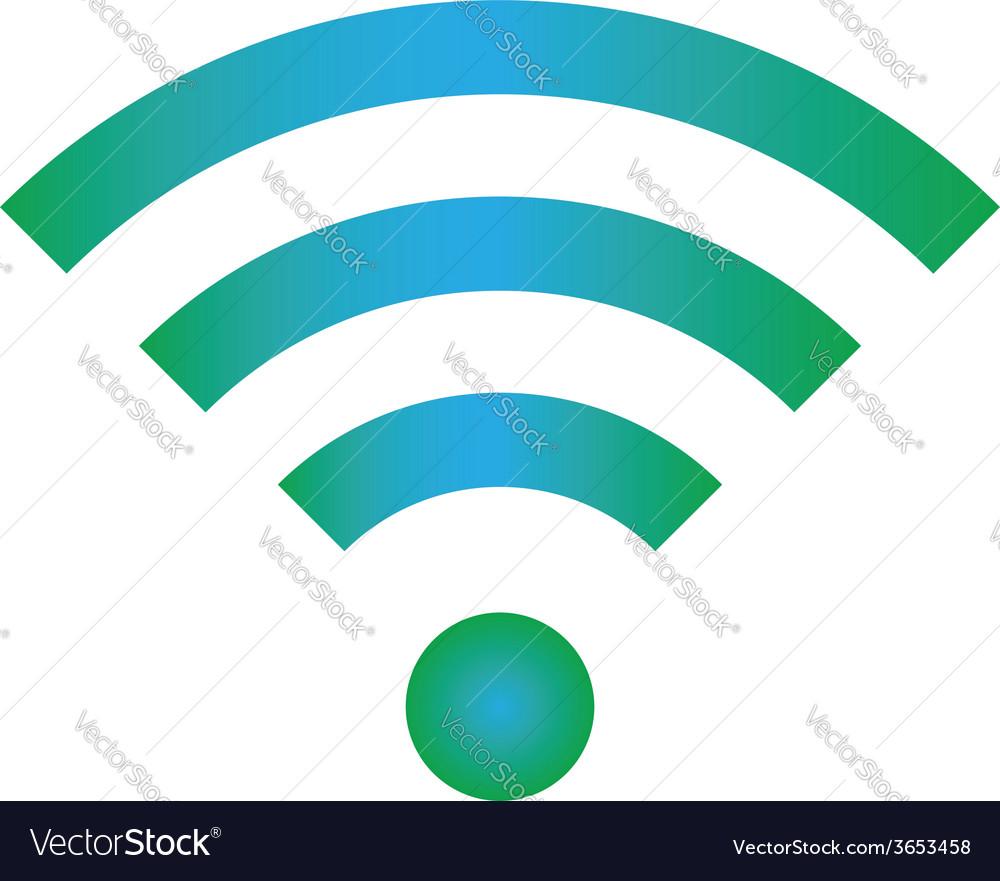 Wifi icon blue green color vector | Price: 1 Credit (USD $1)