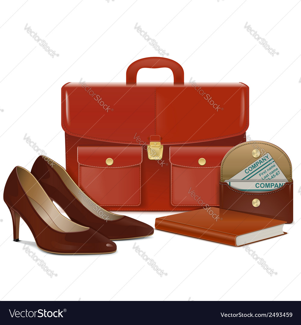 Businesswoman accessories vector | Price: 1 Credit (USD $1)