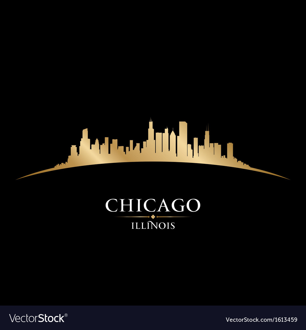 Chicago illinois city skyline silhouette vector | Price: 1 Credit (USD $1)