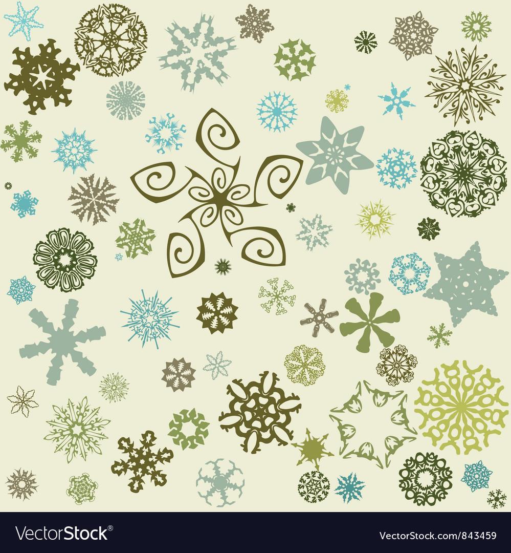 Decorative snowflake background vector   Price: 1 Credit (USD $1)