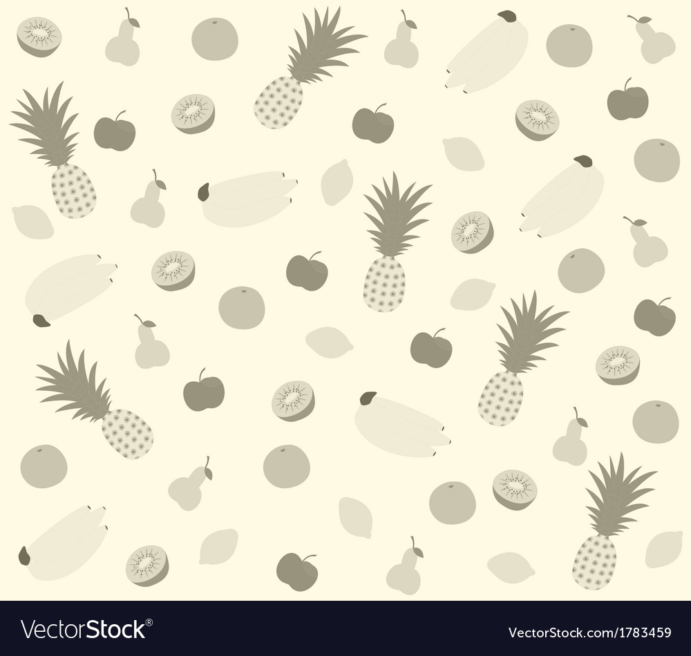 Fruit pattern gray vector | Price: 1 Credit (USD $1)