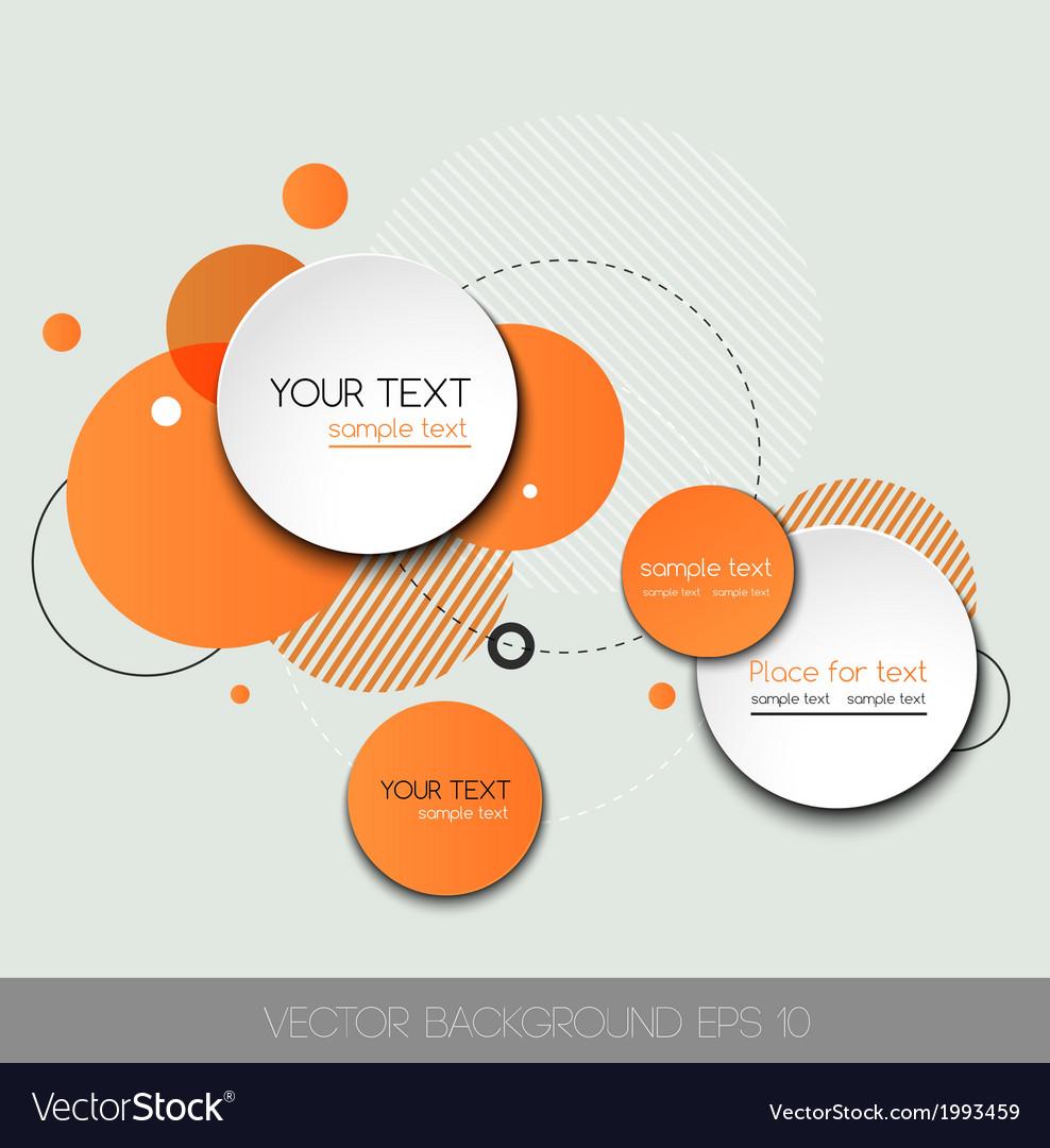 Modern design circle template vector | Price: 1 Credit (USD $1)
