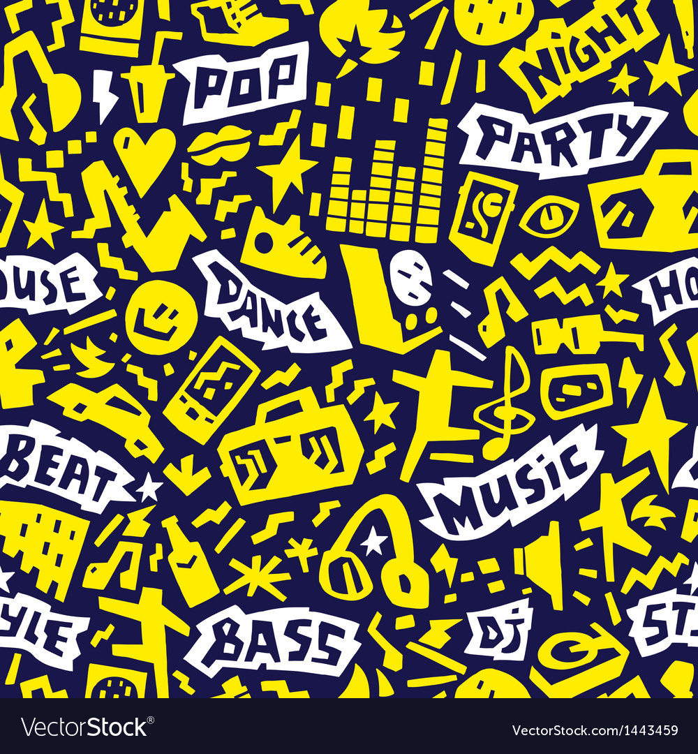 Music party  seamless background vector