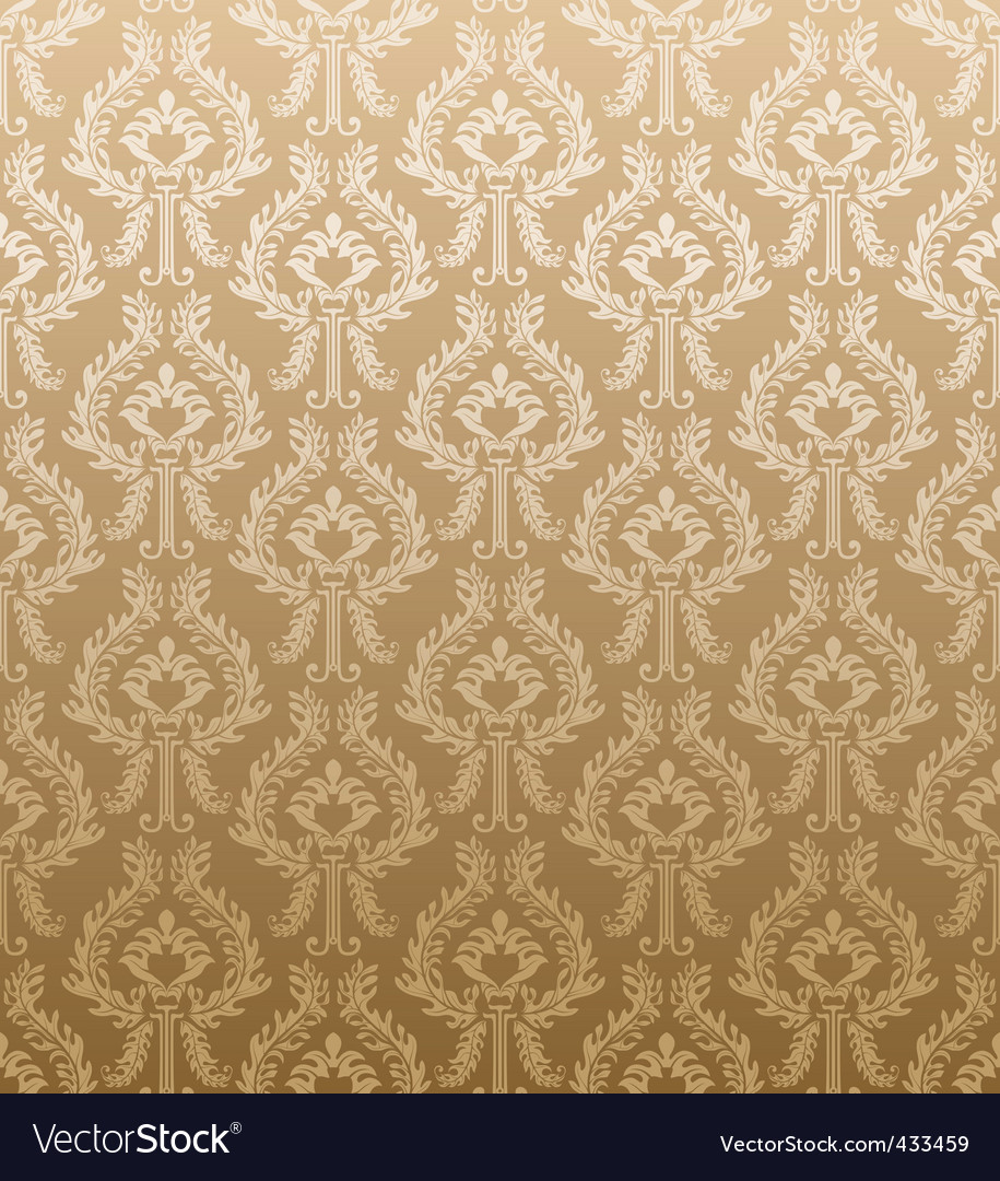 Retro wallpaper pattern vector | Price: 1 Credit (USD $1)
