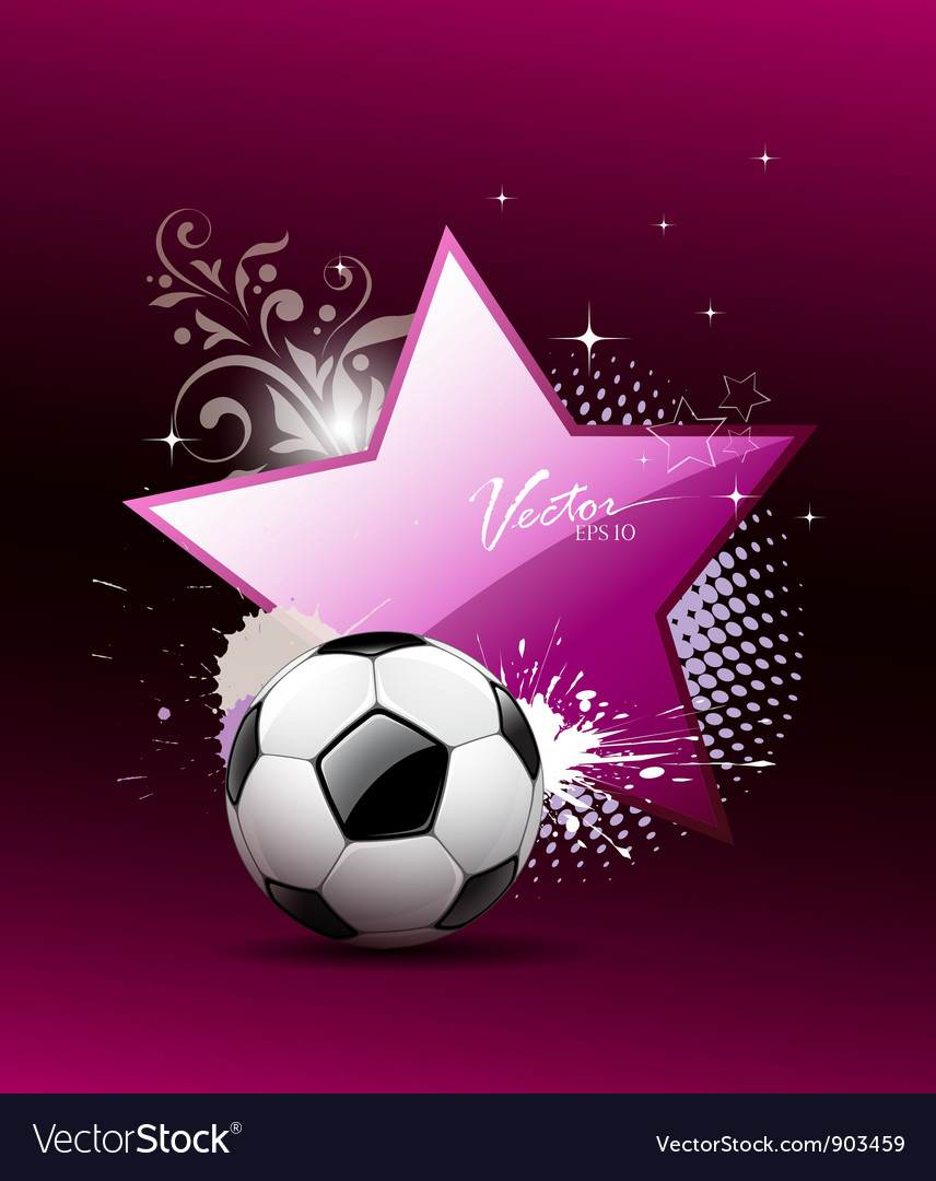 Soccer ball artistic background vector | Price: 3 Credit (USD $3)