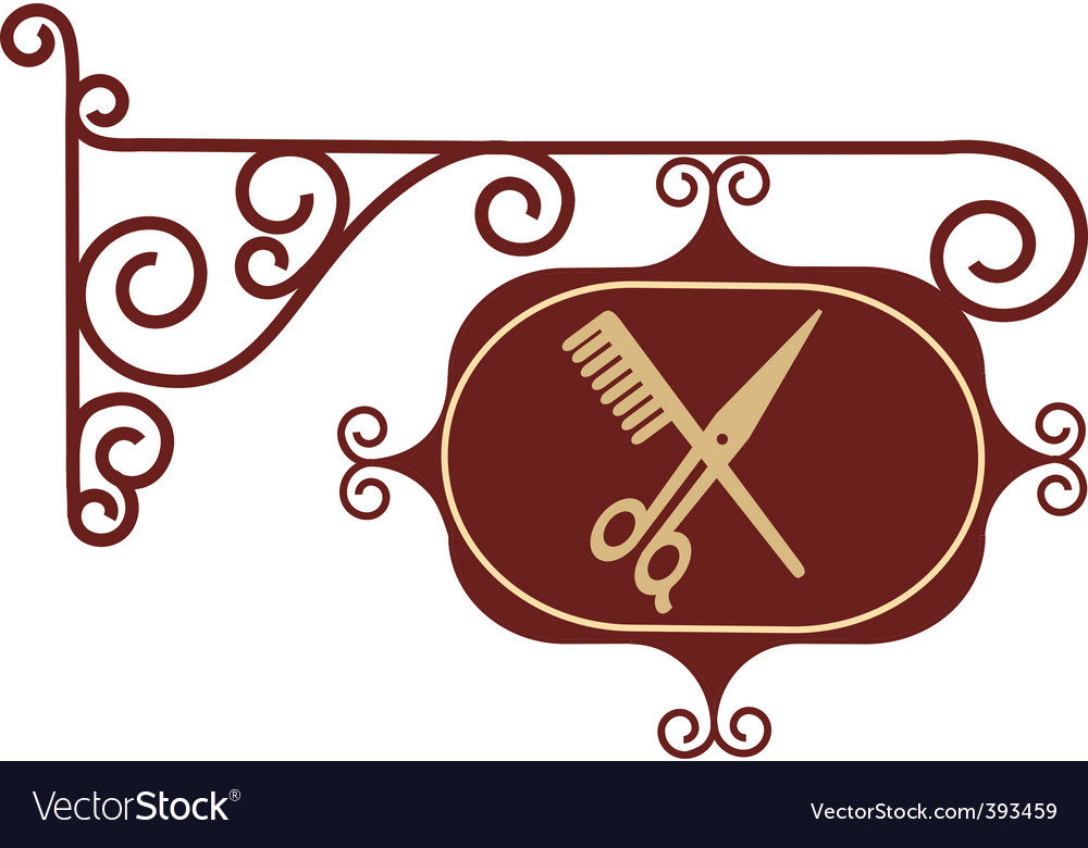 Vintage barber sign post vector | Price: 1 Credit (USD $1)
