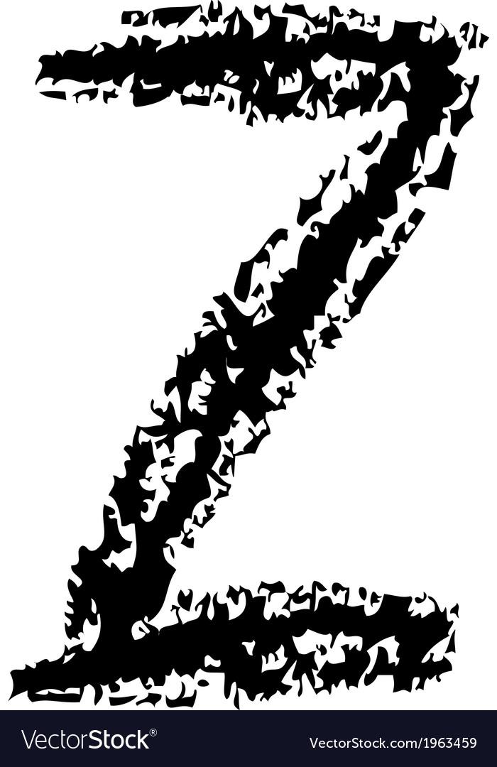 Z brushed vector | Price: 1 Credit (USD $1)