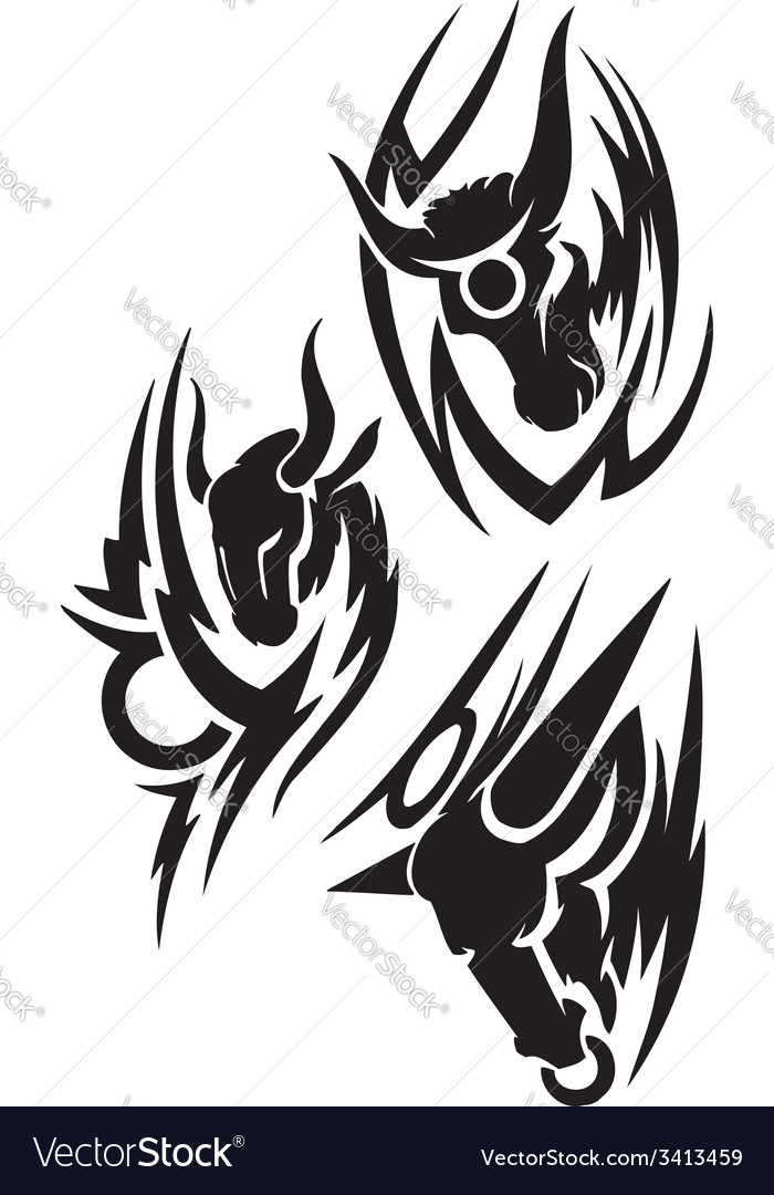 Zodiac signs - taurus vinyl-ready set vector | Price: 1 Credit (USD $1)