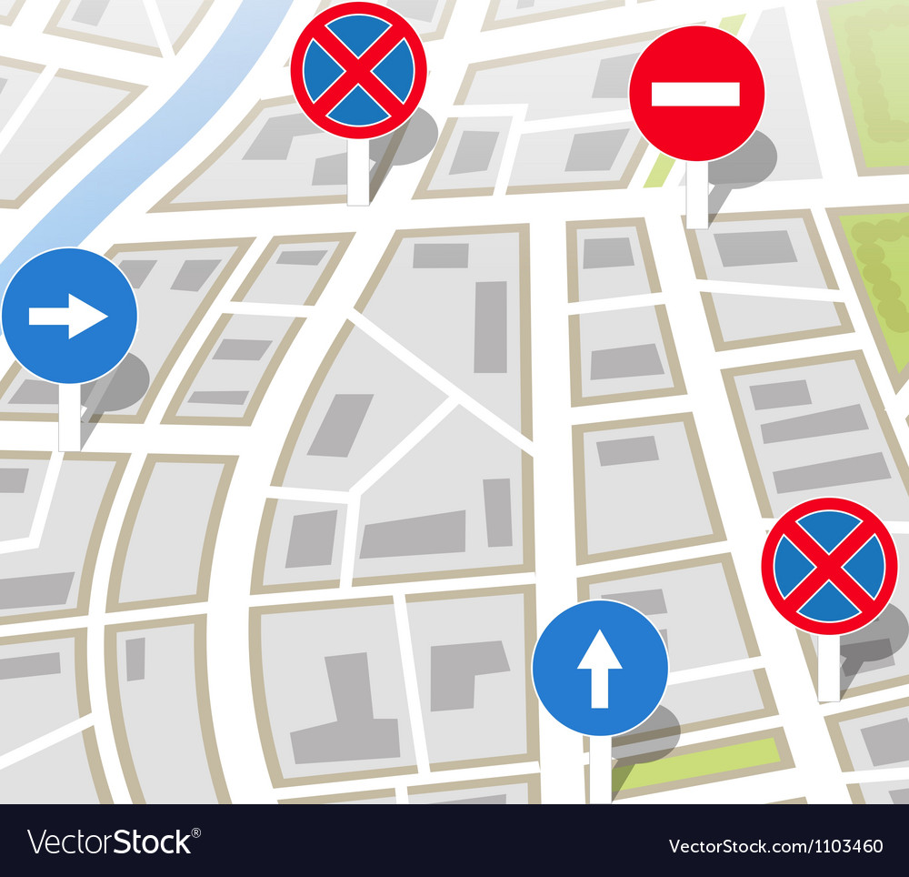 Background of city map vector | Price: 1 Credit (USD $1)