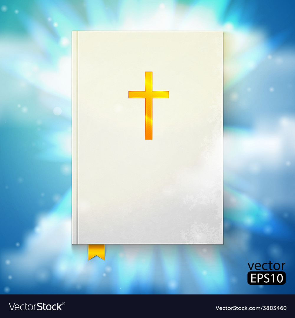 Bible with sun rays vector | Price: 1 Credit (USD $1)