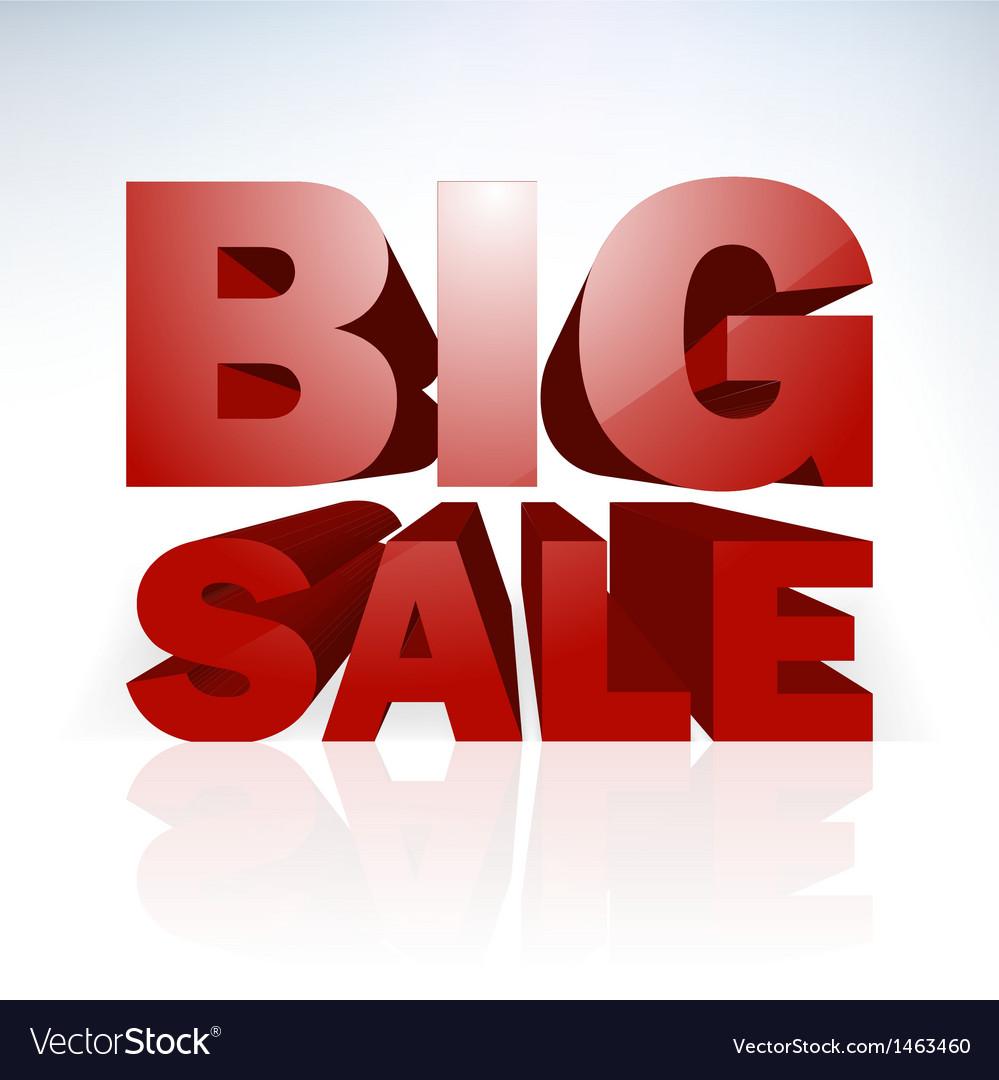 Big sale word template vector   Price: 1 Credit (USD $1)
