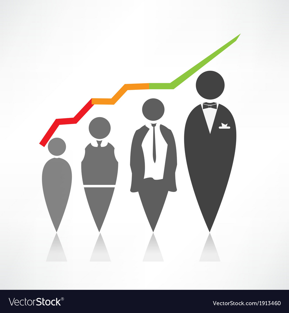 Business people icon vector | Price: 1 Credit (USD $1)