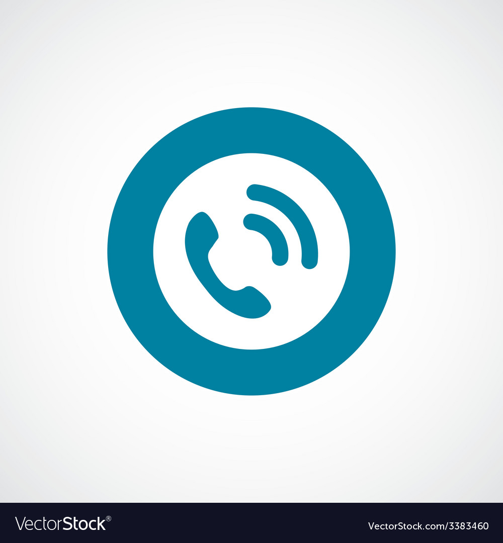 Call bold blue border circle icon vector | Price: 1 Credit (USD $1)