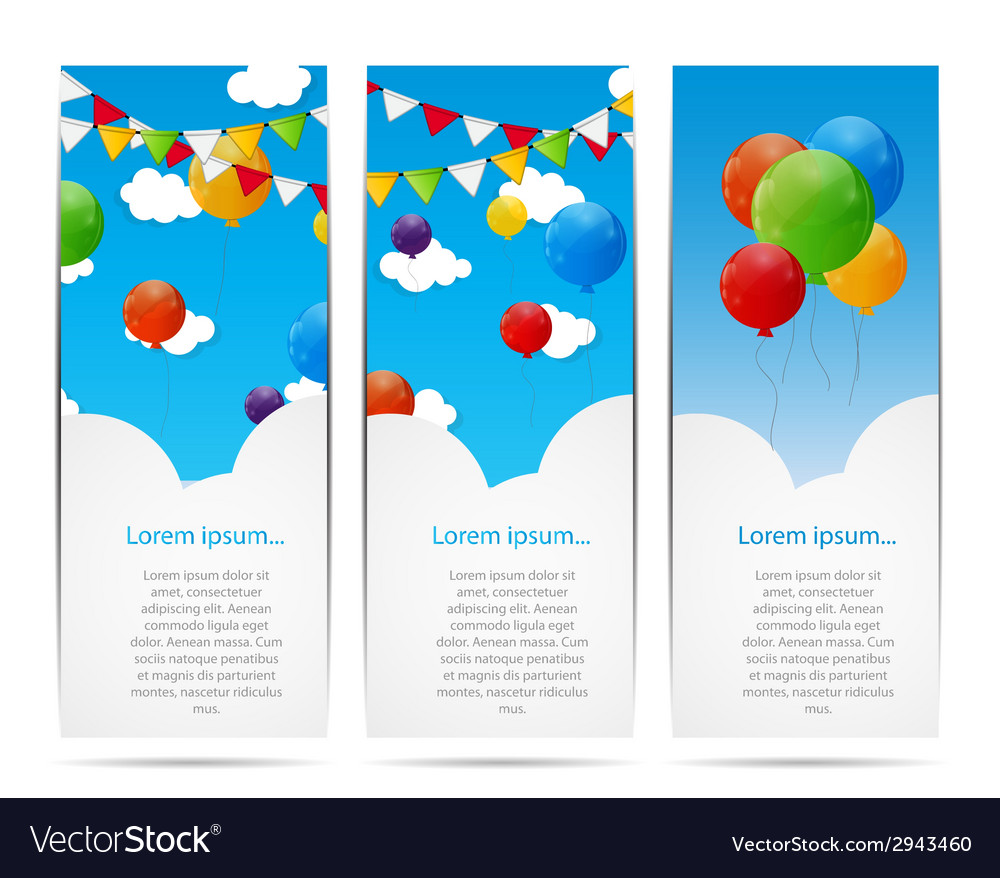 Color glossy balloons background vector | Price: 1 Credit (USD $1)