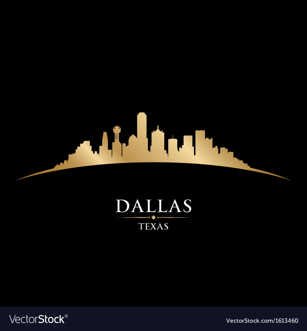 Dallas texas city skyline silhouette vector | Price: 1 Credit (USD $1)