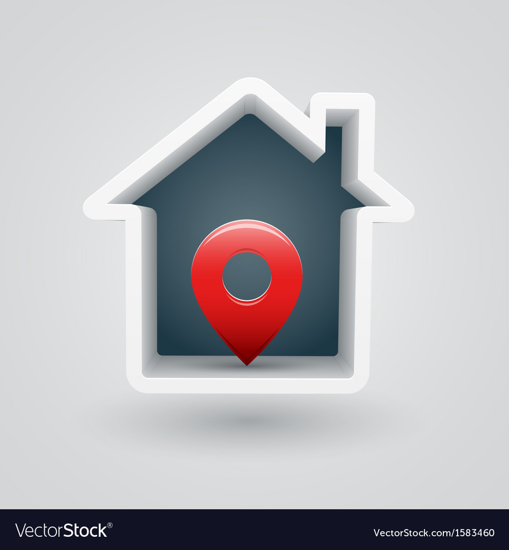 House pin vector | Price: 1 Credit (USD $1)