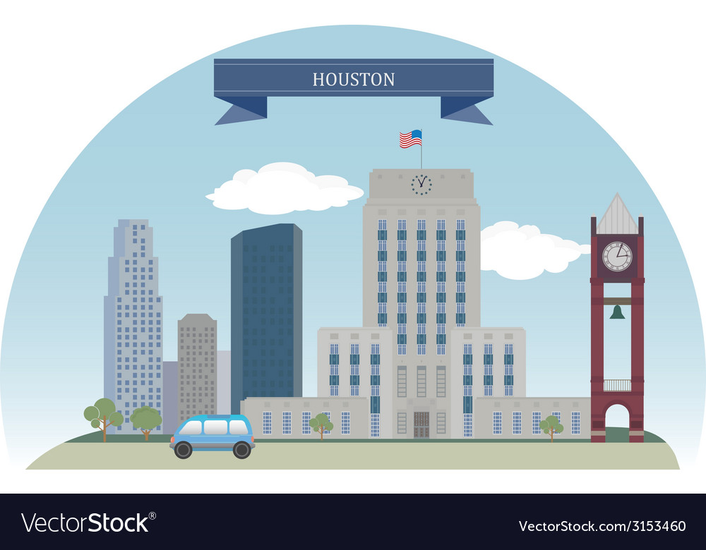 Houston vector | Price: 1 Credit (USD $1)
