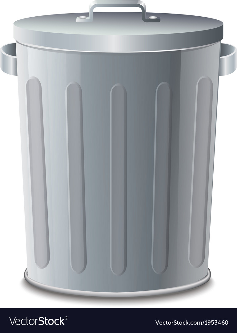 Iron bin vector | Price: 1 Credit (USD $1)