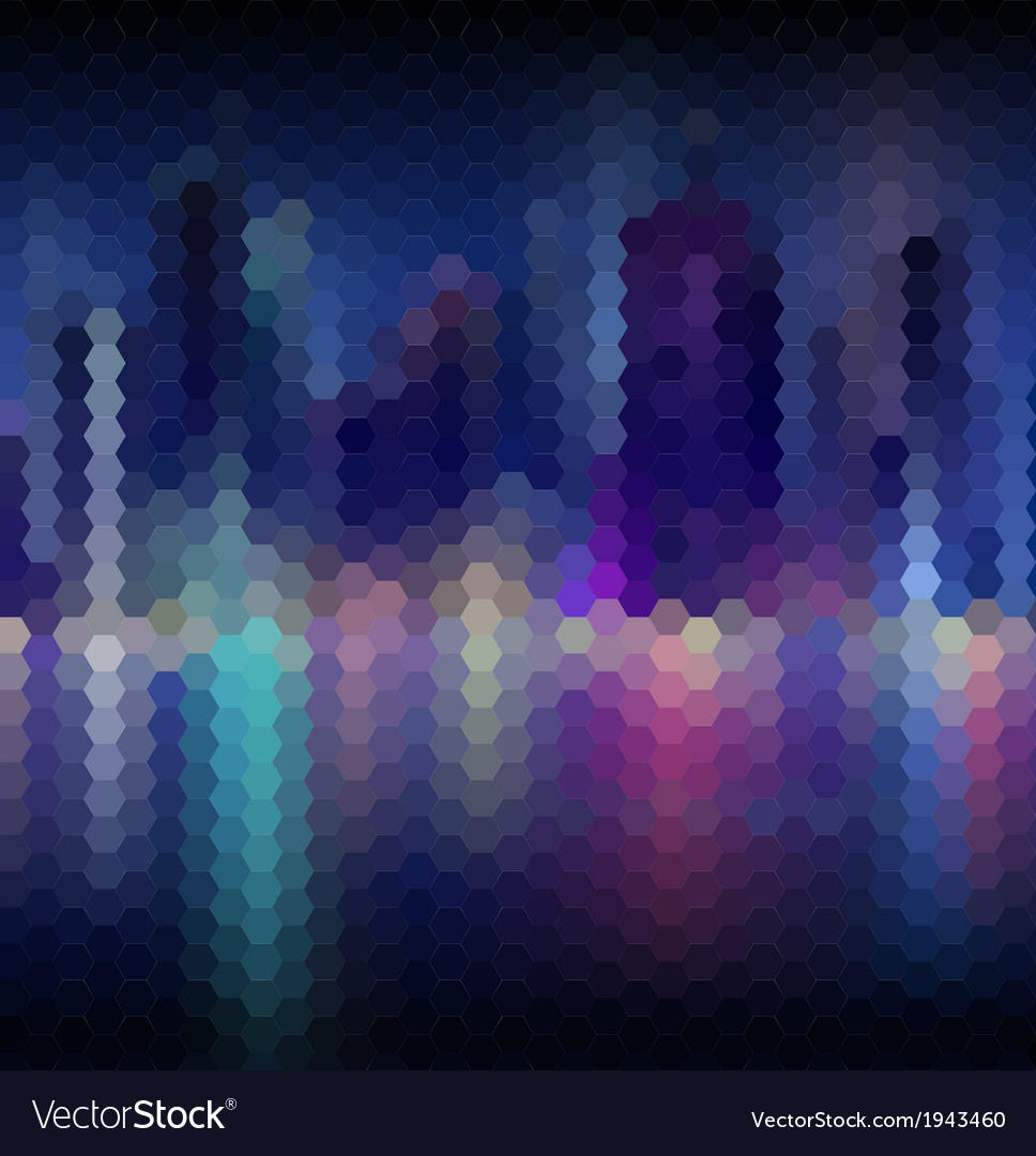 Night city abstract mosaic background vector | Price: 1 Credit (USD $1)