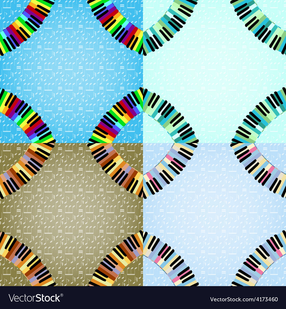 Piano frame with corners set vector | Price: 1 Credit (USD $1)
