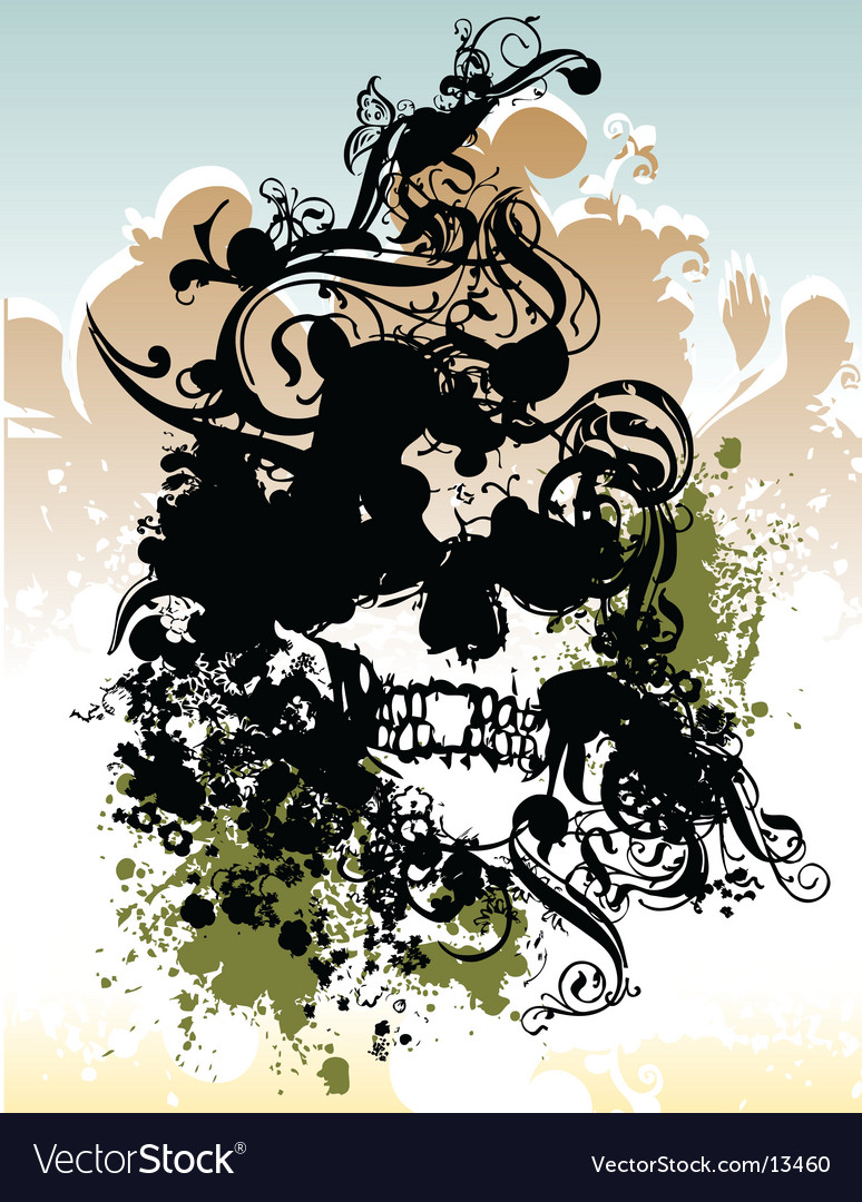 Punk skull illustration vector | Price: 1 Credit (USD $1)