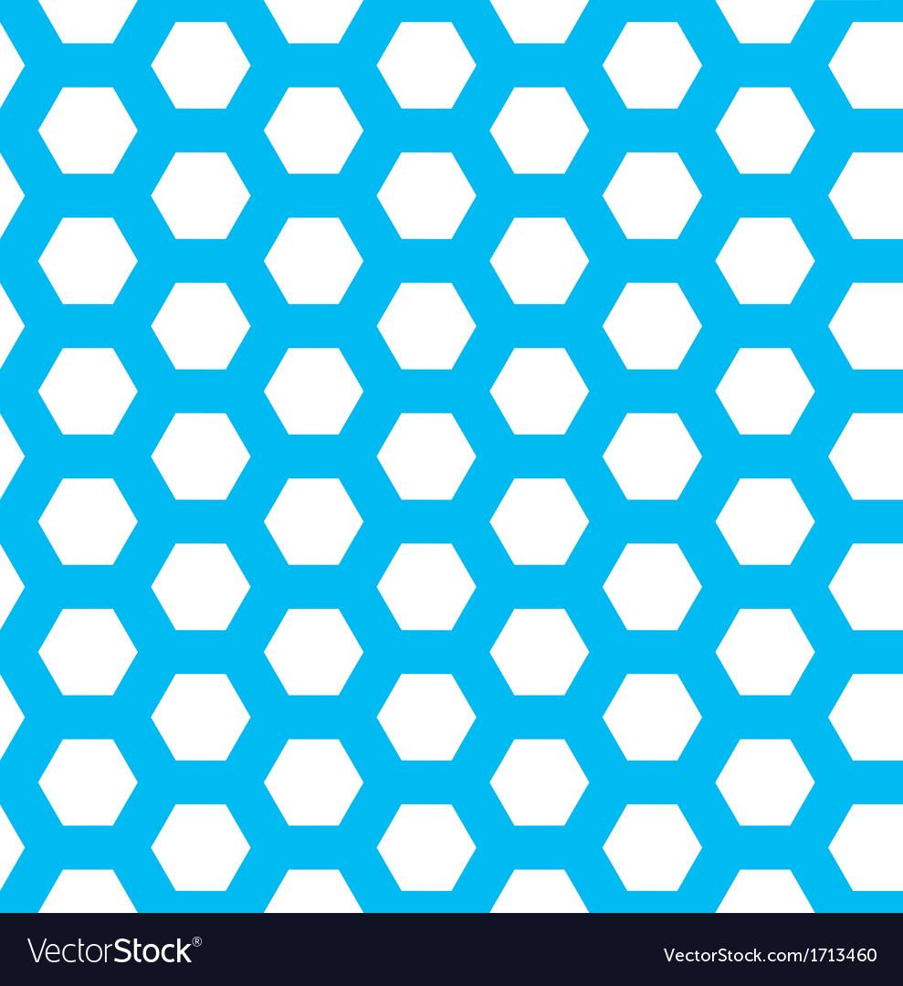 Seamless blue hexagon pattern vector | Price: 1 Credit (USD $1)