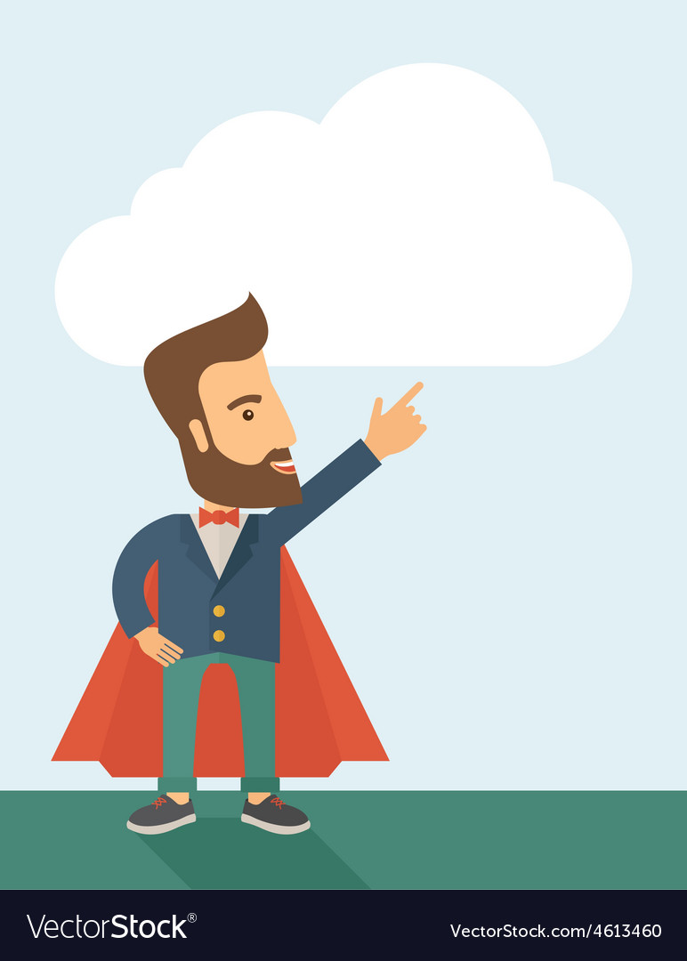 Superhero businessman vector | Price: 1 Credit (USD $1)