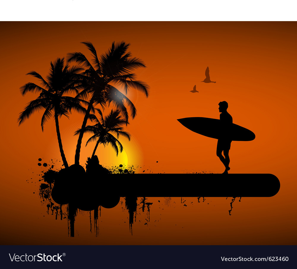 Surfing poster vector   Price: 1 Credit (USD $1)