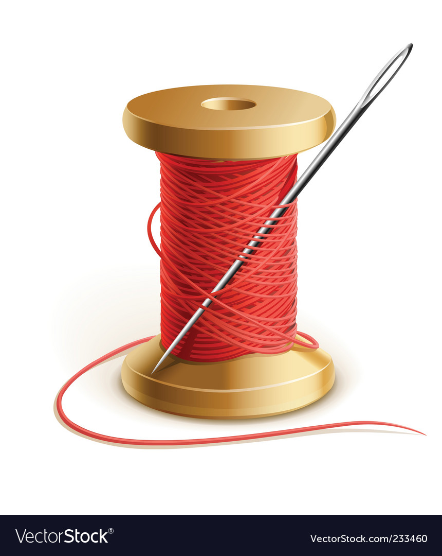 Thread and needle vector | Price: 3 Credit (USD $3)