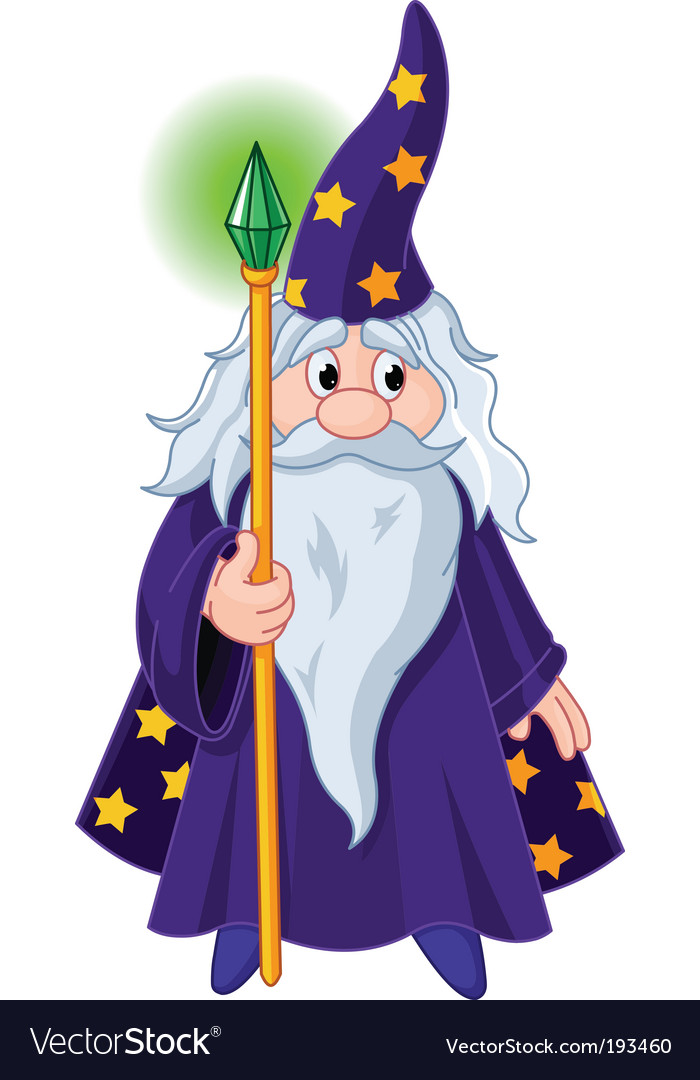 Wizard with staff vector | Price: 3 Credit (USD $3)
