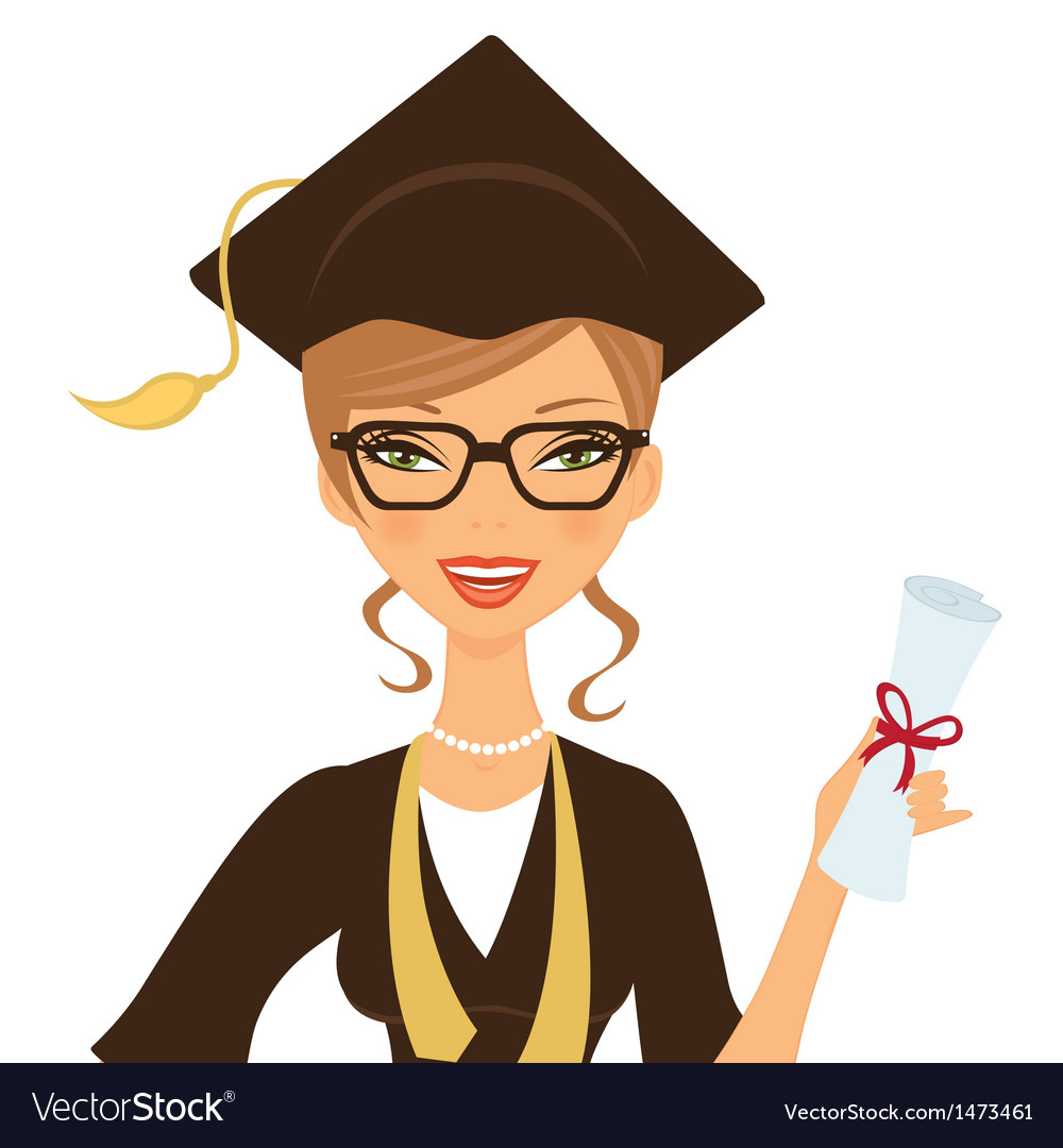 Beautiful graduate vector | Price: 1 Credit (USD $1)