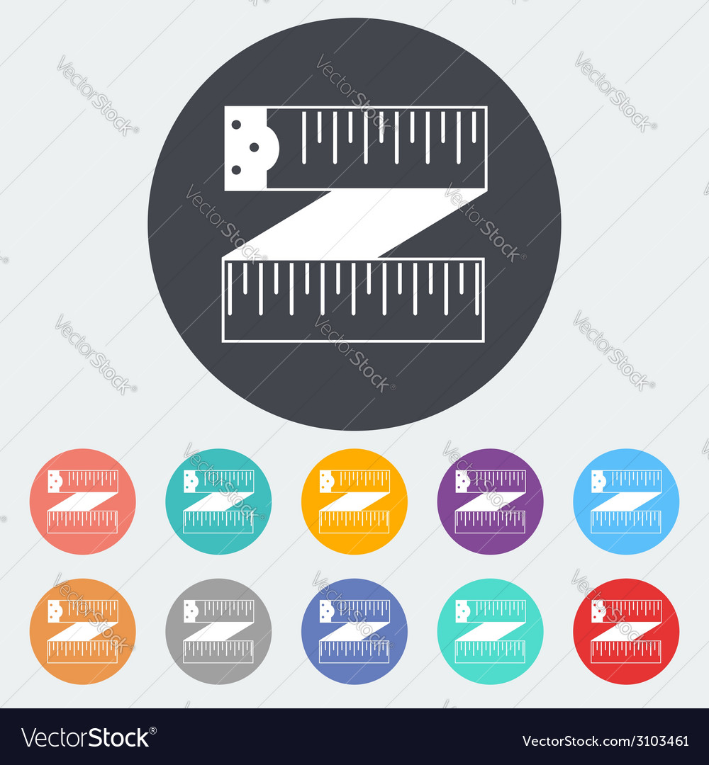 Centimetr icon vector | Price: 1 Credit (USD $1)