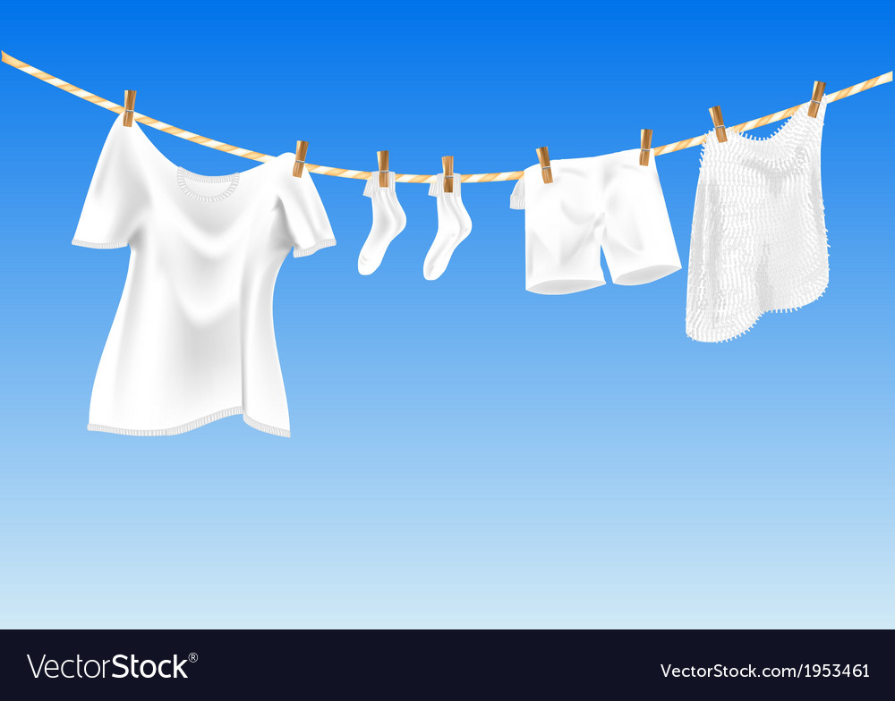 Drying clothes vector | Price: 1 Credit (USD $1)