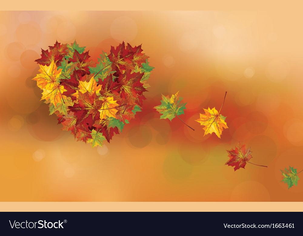 Fall heart vector | Price: 1 Credit (USD $1)