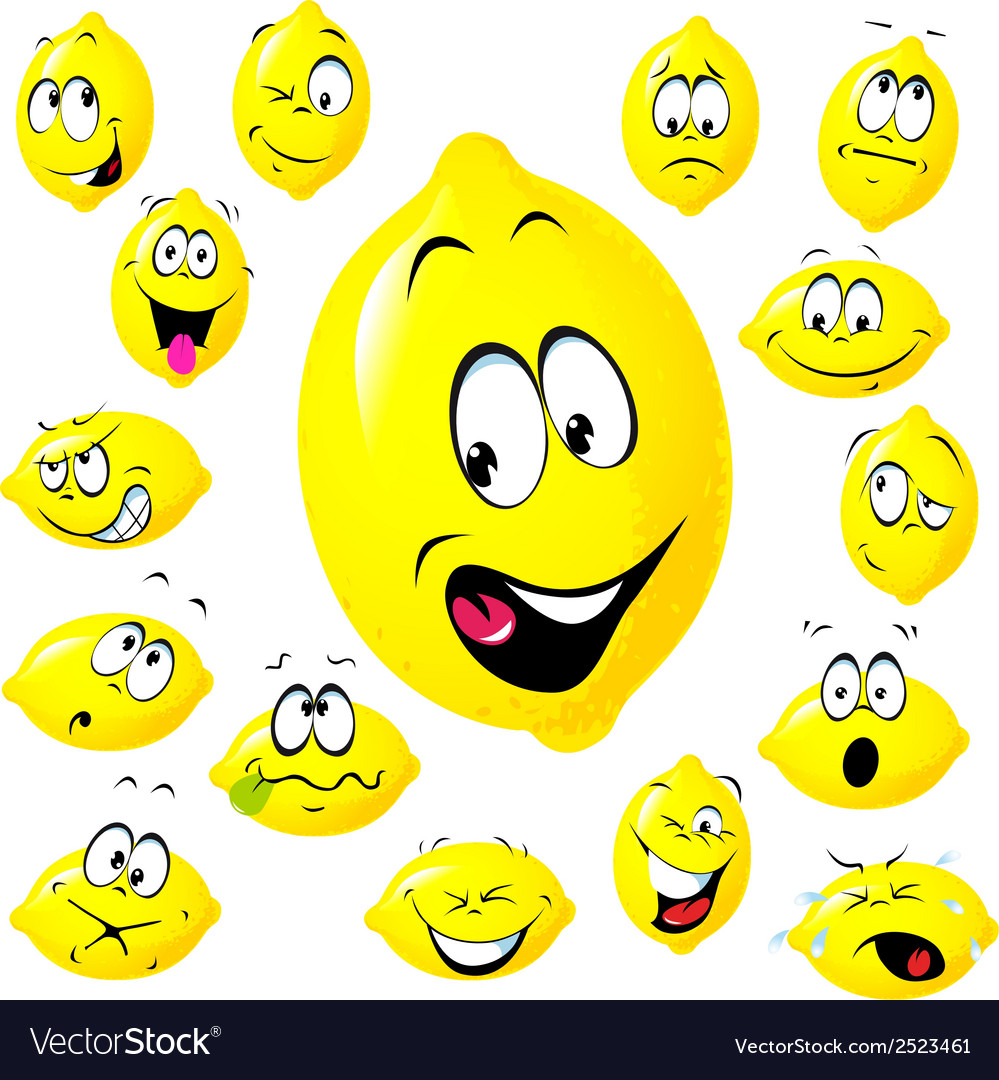 Lemon cartoon vector | Price: 1 Credit (USD $1)