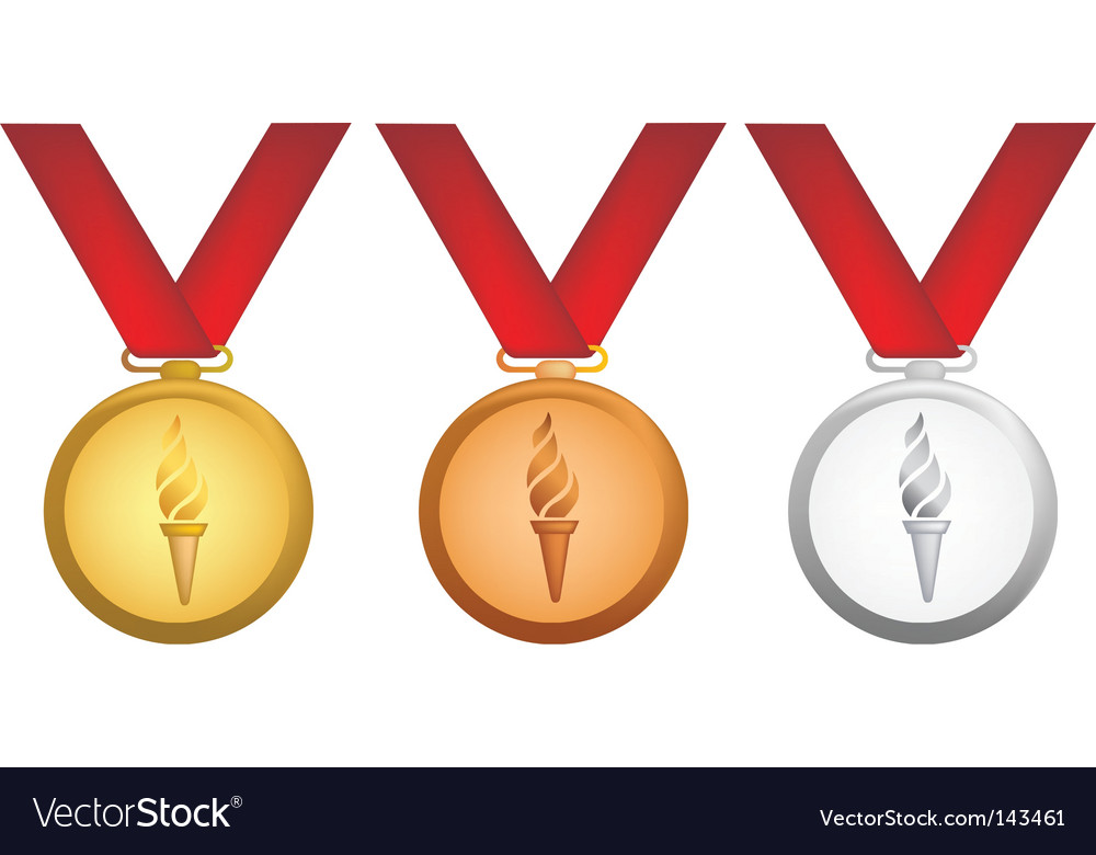 Olympic medals vector | Price: 1 Credit (USD $1)