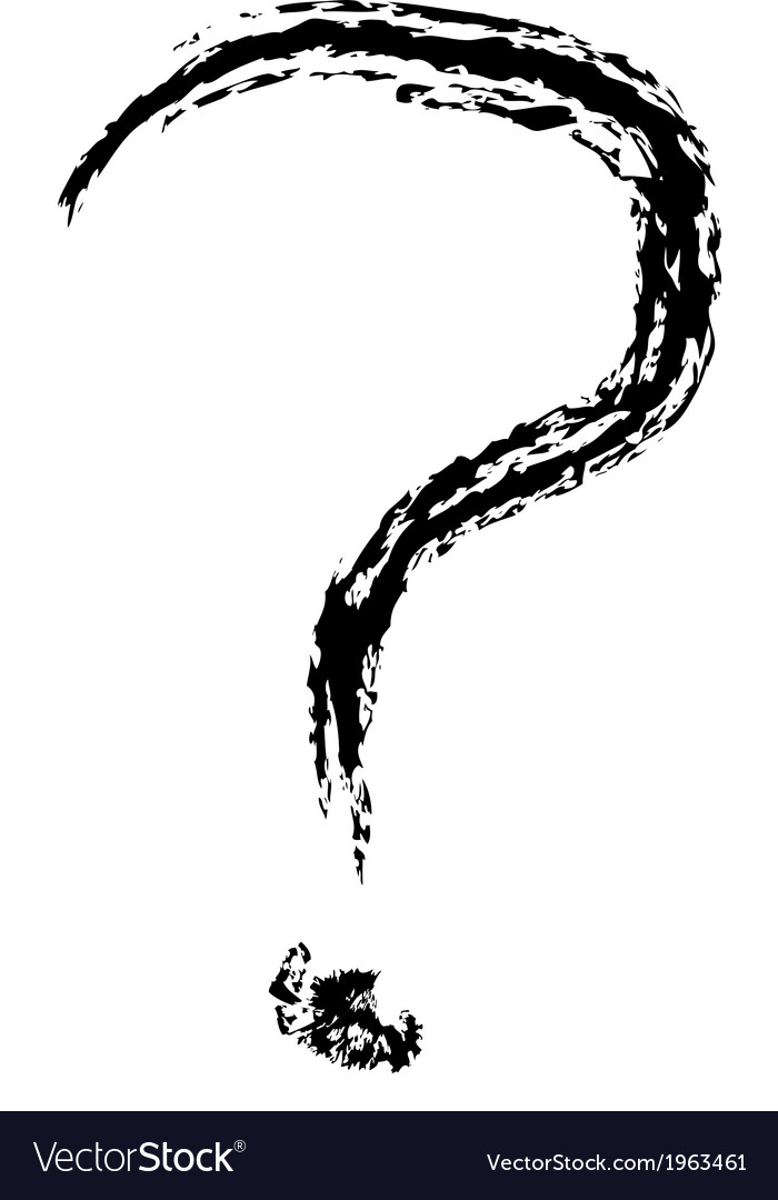 Question mark brushed vector   Price: 1 Credit (USD $1)